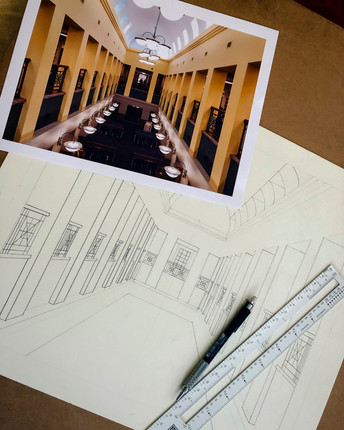 Perspective Drawing in Process