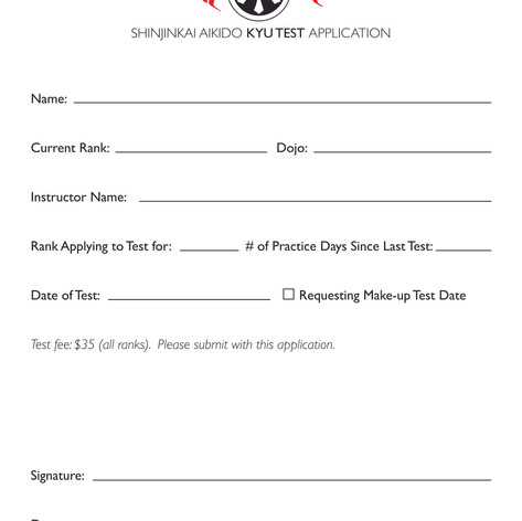 Kyu Exam Form
