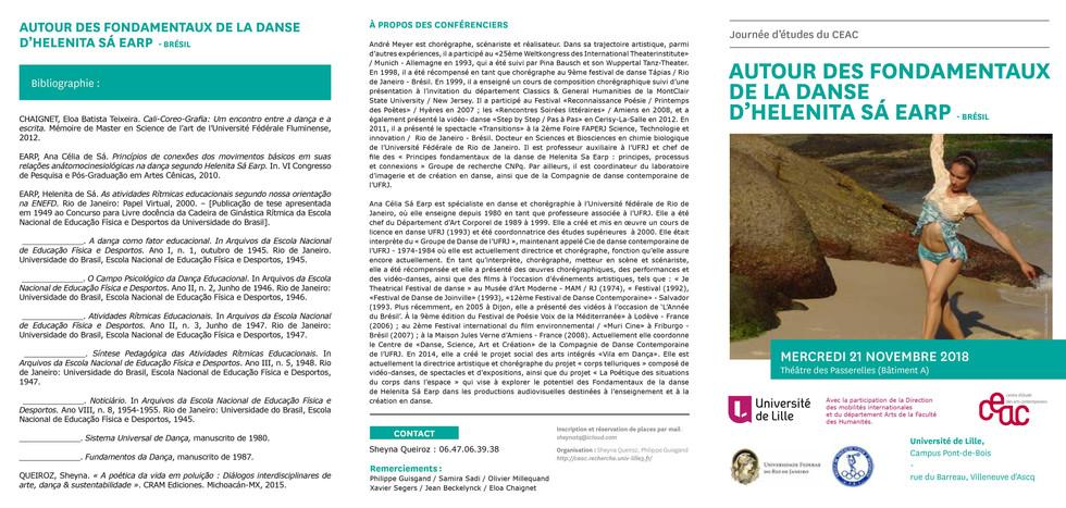 Le 29 novembre 2018au Conservatoire de Lille sous la direction de Sébastien Thierry etinterlocution de Cecile Lagache et Catherine Petit-Wood.