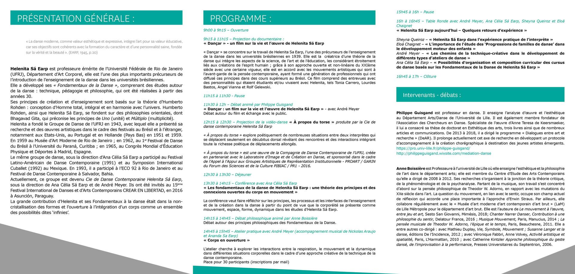 Le 21 novembre 2018 (Événement en partenariat entre l'Université de Lille et l'Université Fédérale de Rio de Janeiro)