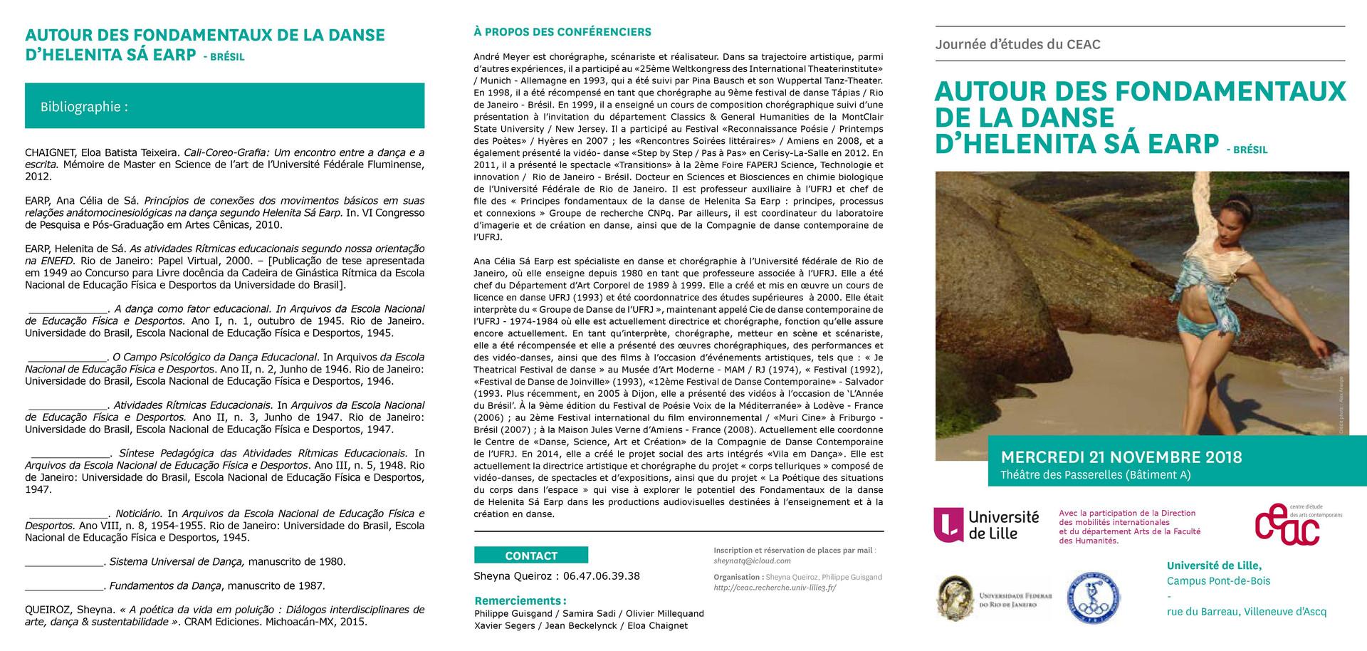 Le 29 novembre 2018 au Conservatoire de Lille sous la direction de Sébastien Thierry et l'interlocution de Cecile Lagache et Catherine Petit-Wood.