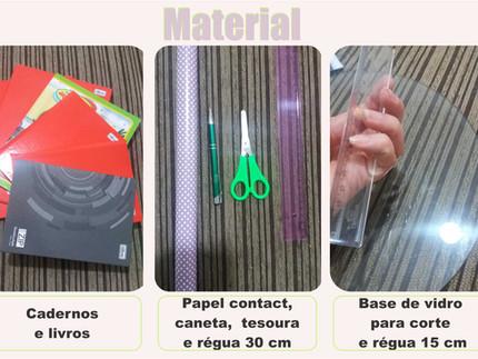 DIY - ENCAPANDO MATERIAL ESCOLAR