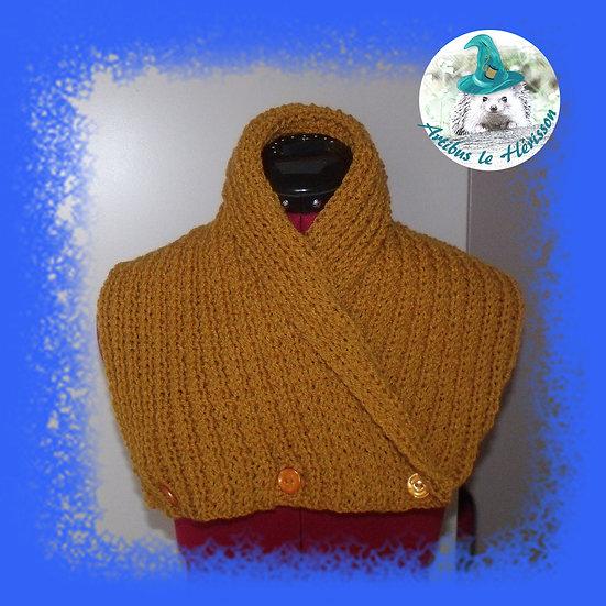 Cache-cou tricoté