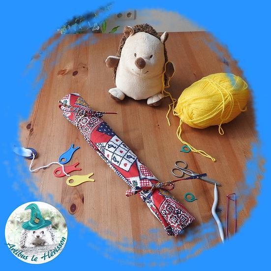 Housse pour aiguilles à tricoter