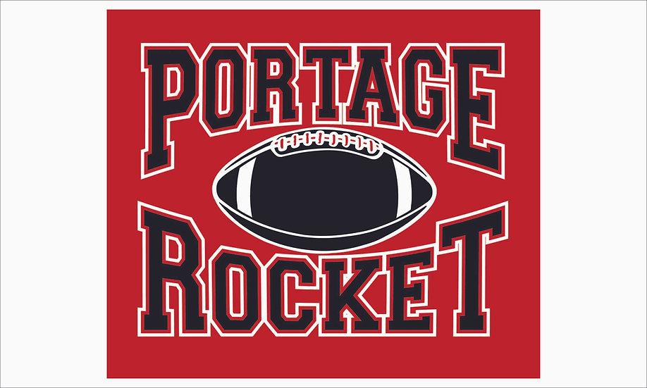Kalamazoo Menuship Card - Portage Rocket Football
