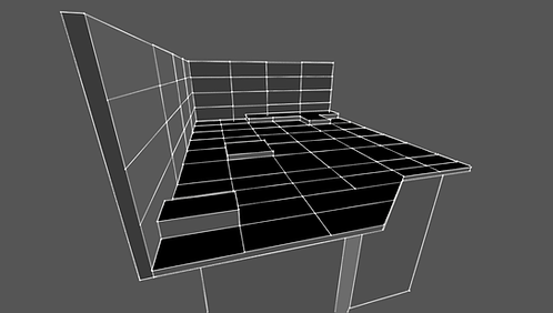 Set tridimensional en perspectiva