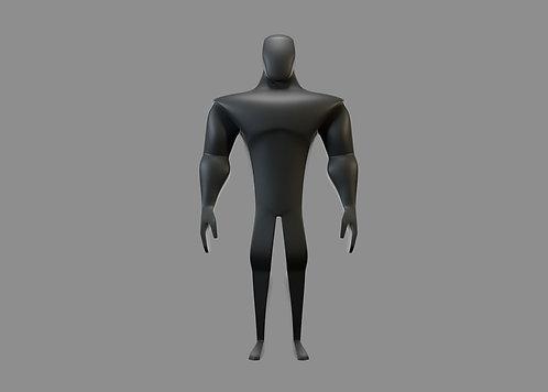 Modelo 3D y Rig: Héroe V1