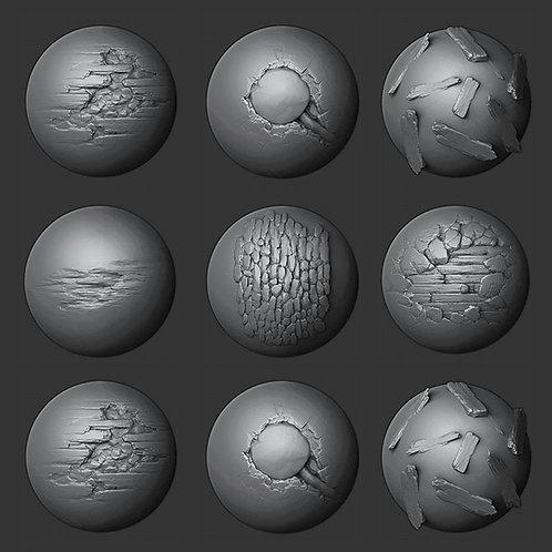 Brochas alpha para modelar en 3D