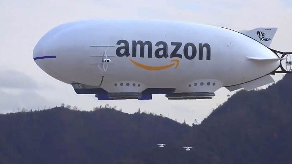 Dirigible amazon, drones.