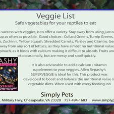 Recommended Veggie List