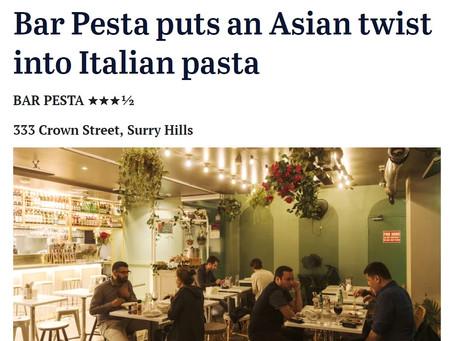 Sydney Morning Herald - Bar Pesta puts an Asian twist into Italian pasta