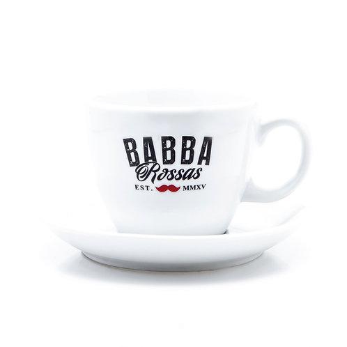 6er Set Milchkaffee/Tee Tassen mit Unterteller