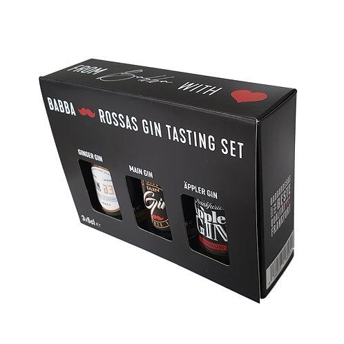 Babba-Rossas Gin Tasting Set, 3x5cl