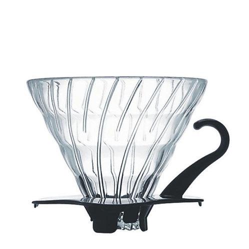 Hario Kaffeefilterhalter V60 Glas schwarz 600 ml