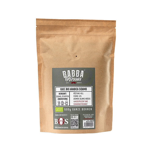 Filterkaffee Arabica Sidamo BIO (3,32€/100g)