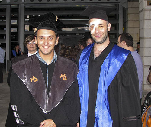 Meron at his PhD ceremony