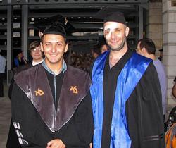 Meron at his PhD ceremony