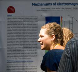 Tamar presenting a poster, FENS 2010