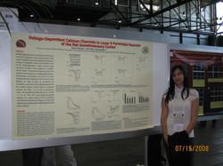 Mara presenting a poster, FENS 2008