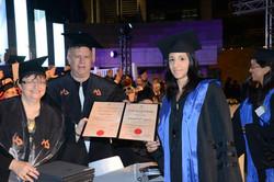 Mara at her PhD ceremony