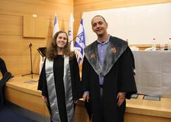 Moran at her MSc ceremony