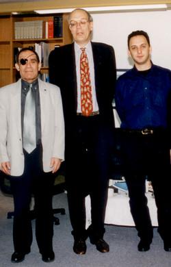 Bert Sakmann's visit, 2002
