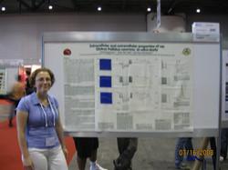 Jenia presenting a poster, FENS 2008