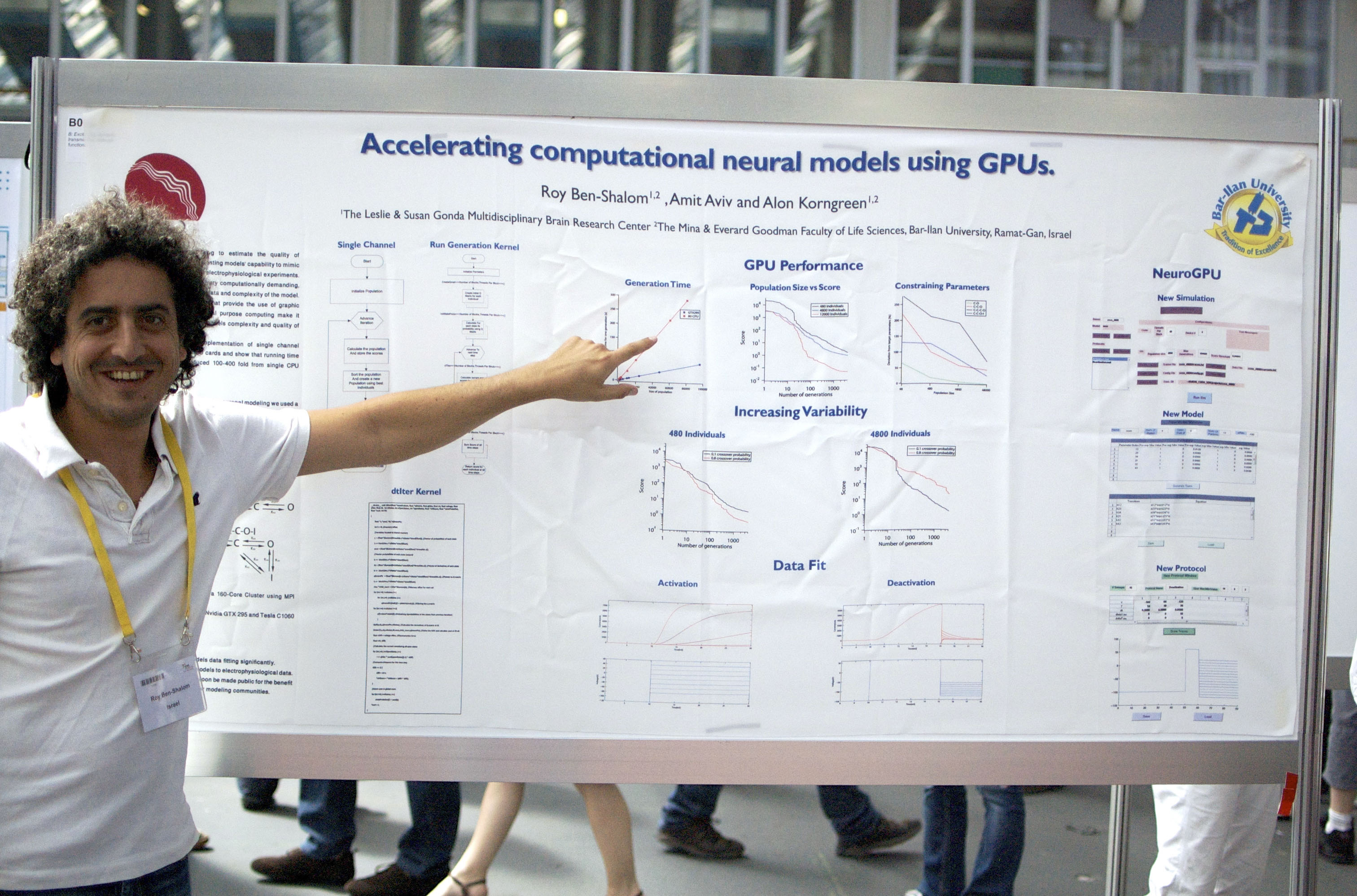 Roy presenting a poster, FENS 2010