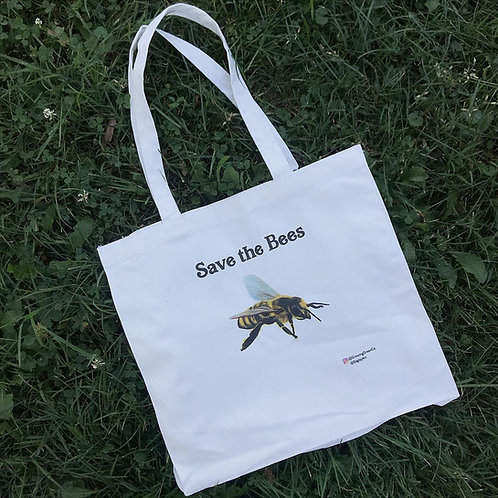 Save the Bees Cotton Tote