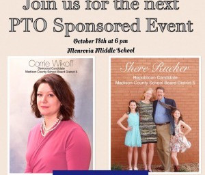 PTO Sponsored Event for Candidate Corrie Wikoff, On October 18, 2016