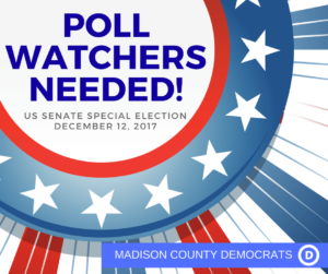 Poll Watchers Needed for Dec. 12 Special Election