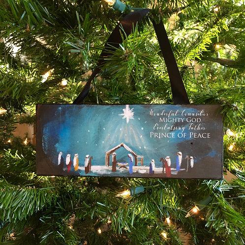 Nativity Ornament 3x7