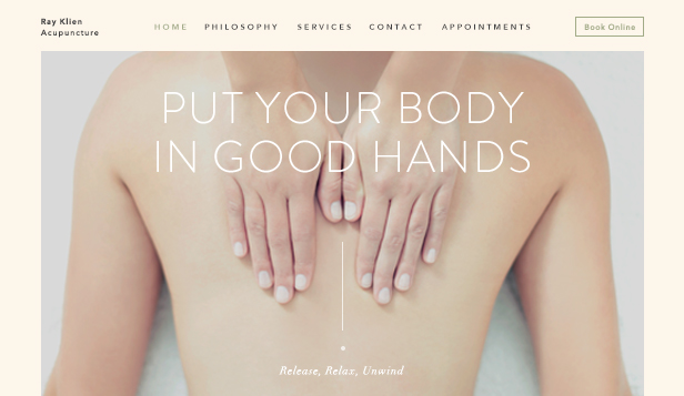 Wellness website templates – Acupuncturist