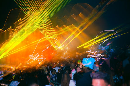 Lights, people, flash, tent, festival