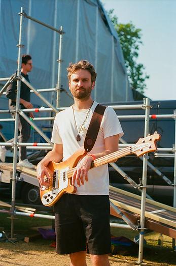 bass player, backstage