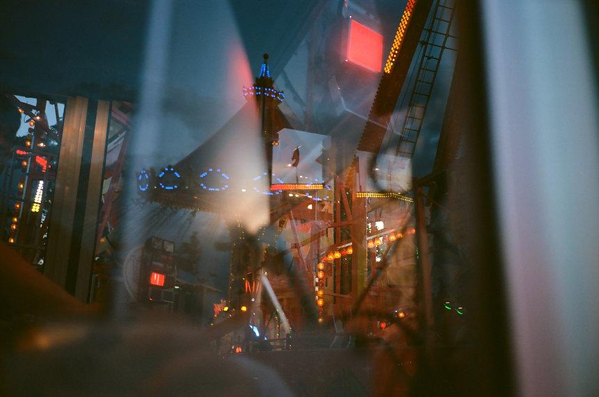 Fun Fair, reflection, light, burgess, park, portraits, fair, ground, rides, dodgems, carousel, merry go round