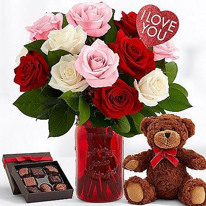 Ultimate One Dozen Sweetheart Roses