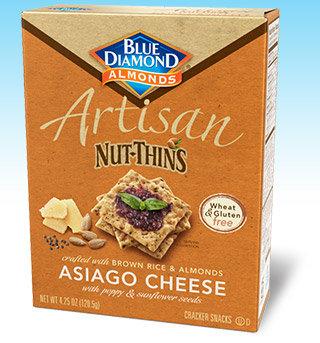 Blue Diamond Artisan Nut-Thins, Asiago