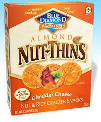Blue Diamond Nut Thins Cheddar 4.5 Oz