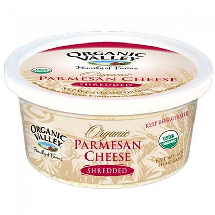 Organic Valley Shredded Parmesan Cheese 4 Oz