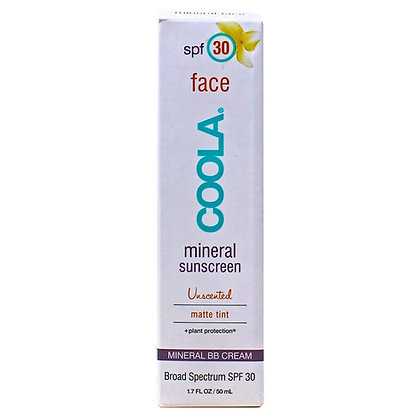 Coola Face Sunscreen Mineral Matte Tint SPF 30 Reef Friendly 1.7 oz