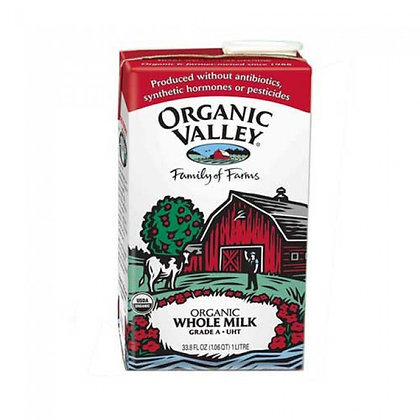 Organic Valley Whole Milk Shelf Stable 33.8 Oz