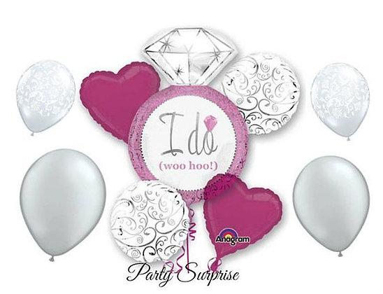 Bridal Shower Balloon Bouquet 12 balloons