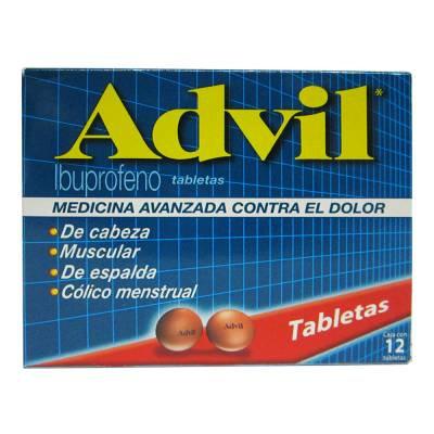 Advil 200 mg capsules 12 pcs