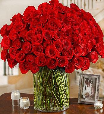 100 Long Stem Roses