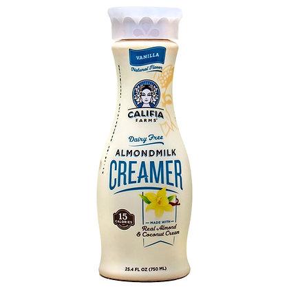 Califia Farms Creamer Almond Milk Vanilla Dairy Free 25.4 oz