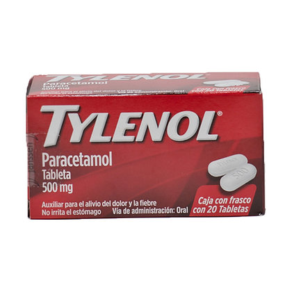 Tylenol Paracetamol 500 mg 20 tablets