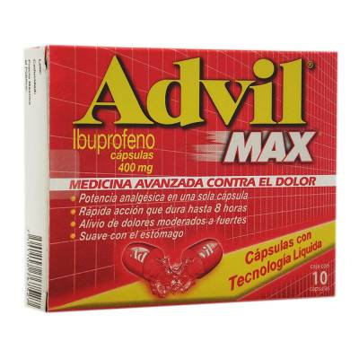 Max Advil 400 mg capsules 10 pcs