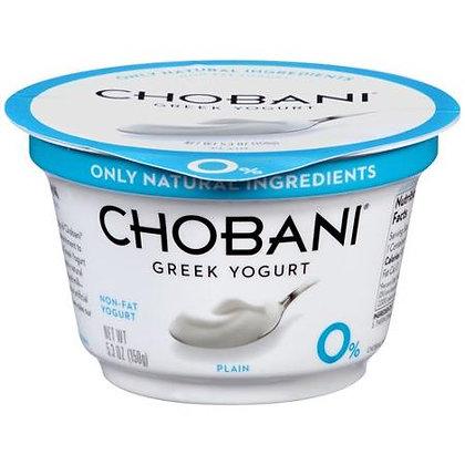 Chobani Plain Non Fat Greek 5.3 oz
