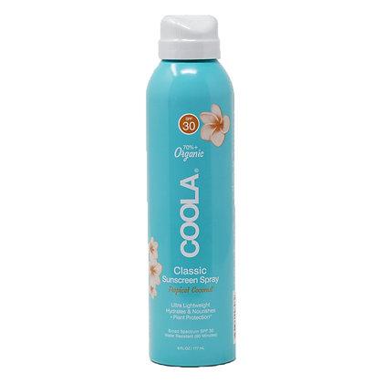Coola Sunscreen Spray Tropical Coconut SPF 30 Feef Friendly 6 oz
